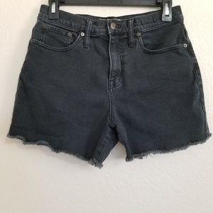 Madewell Black High Rise Denim Shorts 26